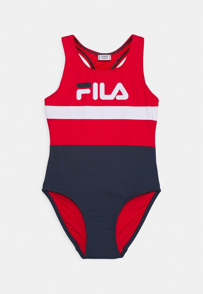 Fila - MARIE SWIMSUIT SWIMWEAR - Swimsuit - black iris/true red/bright white