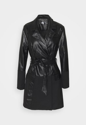 BELTED BLAZER DRESS - Vestido informal - black