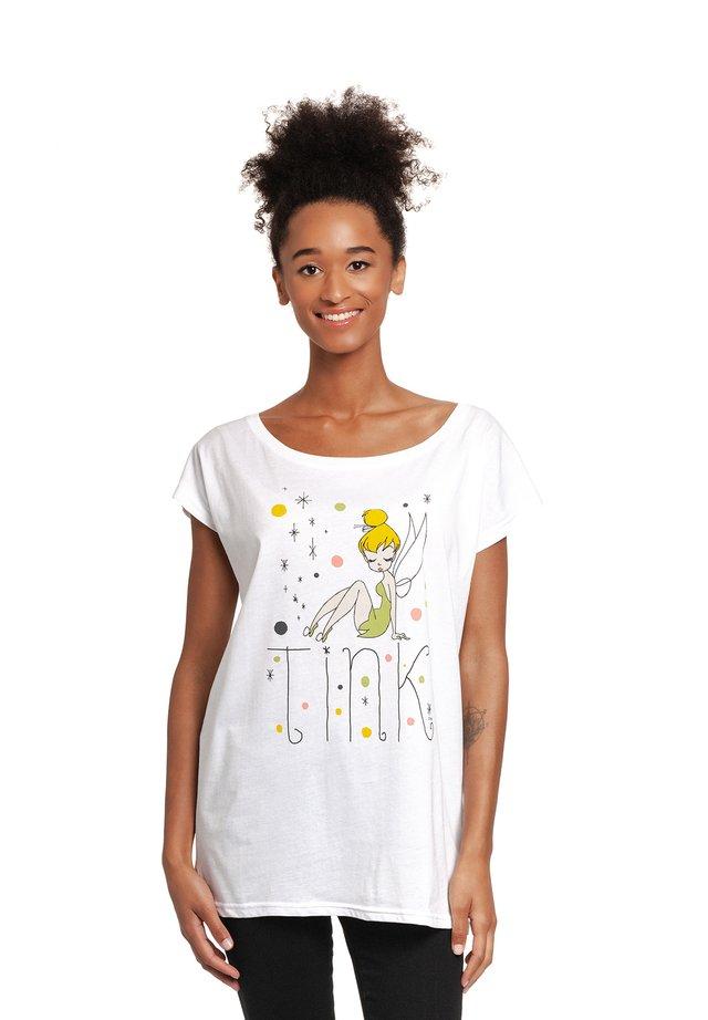 TINKERBELL  - Print T-shirt - weiss