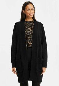 WE Fashion - ZONDER SLUITING - Cardigan - black - 0