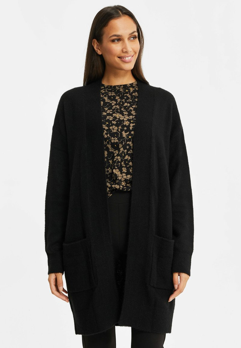 WE Fashion - ZONDER SLUITING - Cardigan - black