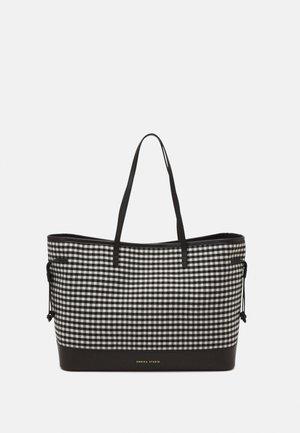 SOVANY - Plátenná taška - black/white