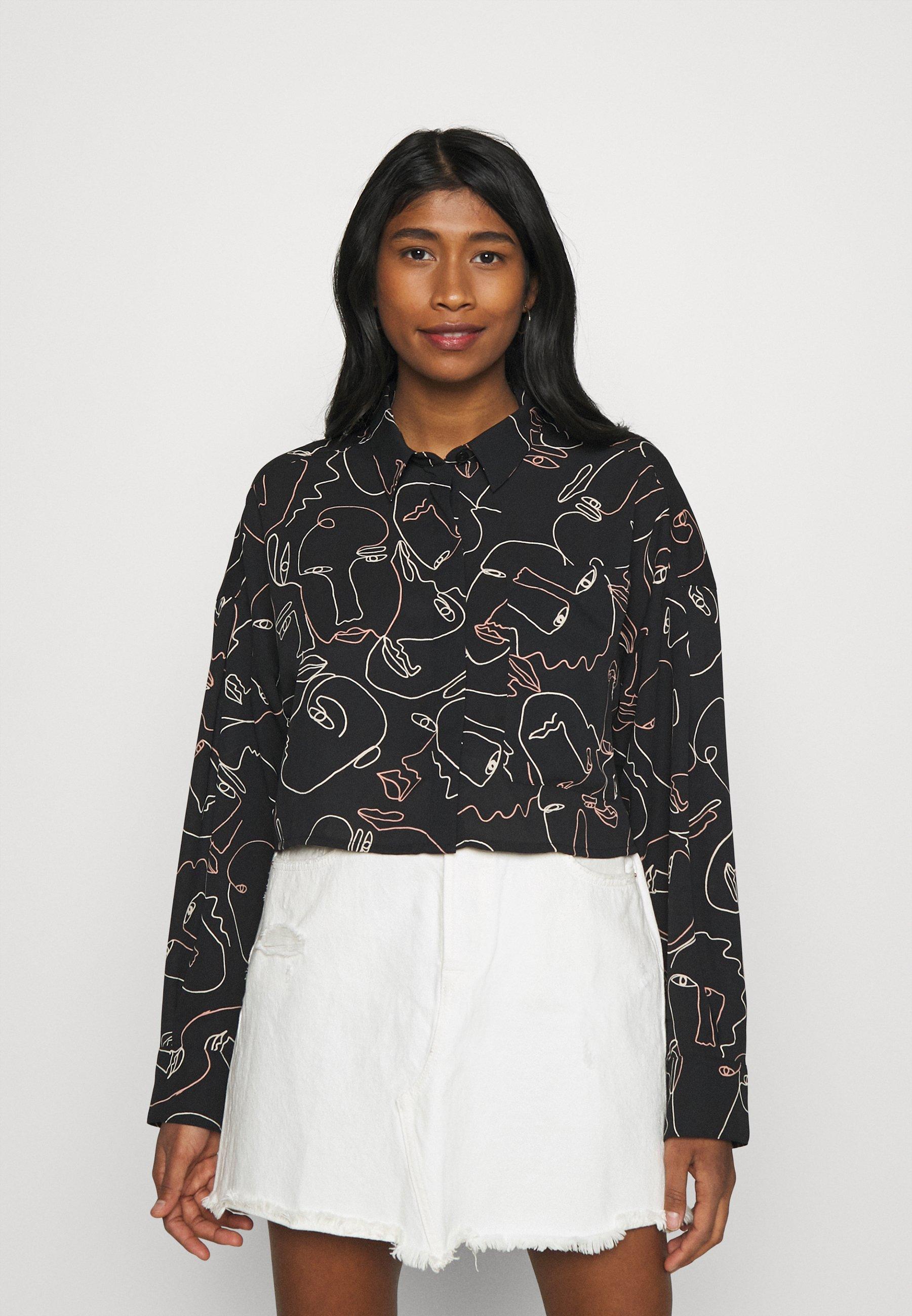 Women Button-down blouse - black