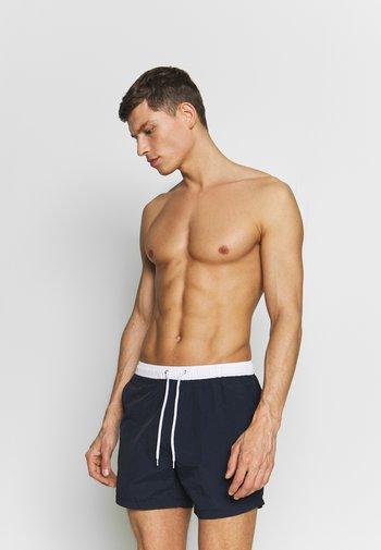 WAVE - Swimming shorts - navy/white