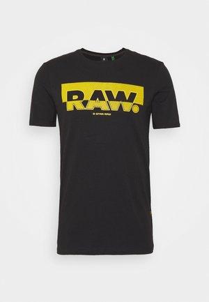 RAW. GRAPHIC SLIM  - Camiseta estampada - black