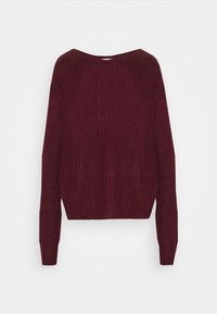Missguided - OPHELITA OFF SHOULDER JUMPER - Pullover - burgundy - 4
