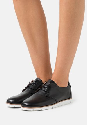 LEATHER - Chaussures à lacets - black