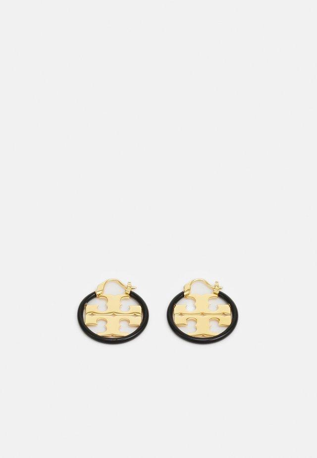 MILLER SMALL HOOP EARRING - Kolczyki - gold-coloured/black