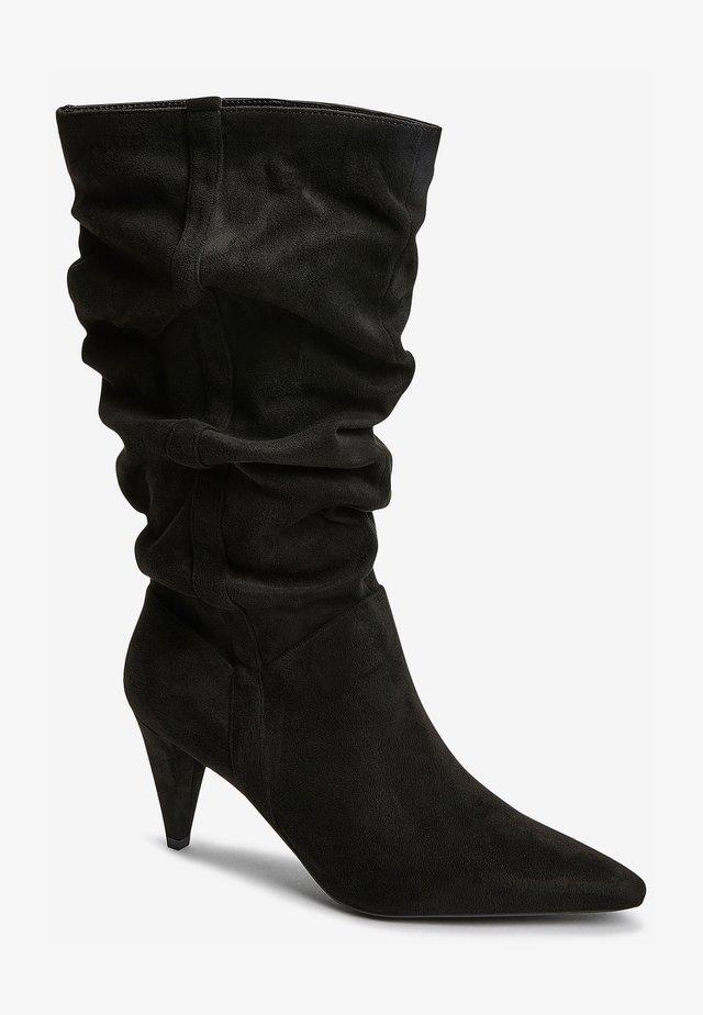 VINTAGE - Laarzen met hoge hak - black