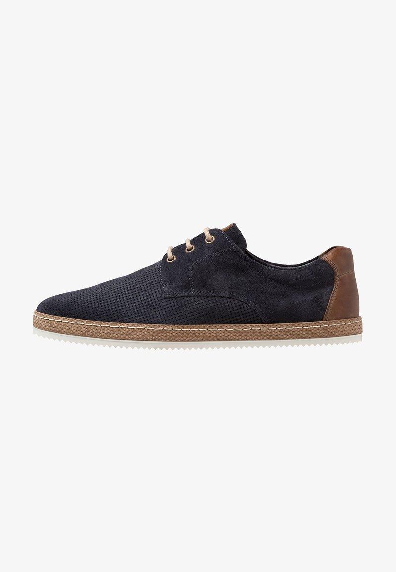 Pier One - Volnočasové šněrovací boty - dark blue