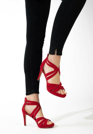 CHERRY - High heeled sandals - red