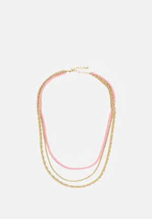PCFLORENNE COMBI NECKLACE - Necklace - gold-coloured/rose
