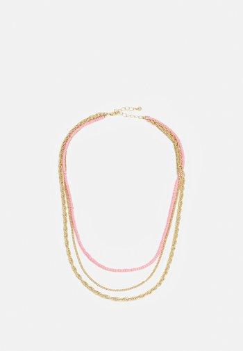 PCFLORENNE COMBI NECKLACE - Necklace - gold-coloured/rose