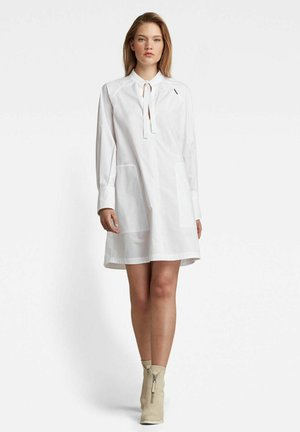 V-NECK TUNIC - Shirt dress - white