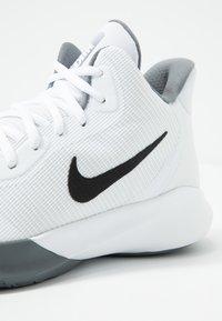 Nike Performance - PRECISION III - Basketball shoes - white/black - 5