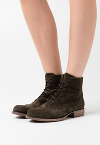 Anna Field - LEATHER  - Ankle boots - olive - 0