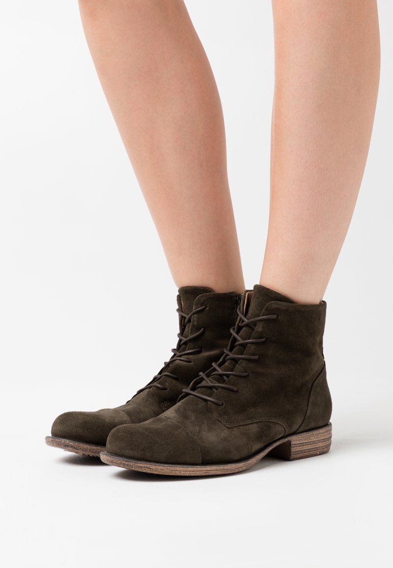 Anna Field - LEATHER  - Ankle boots - olive