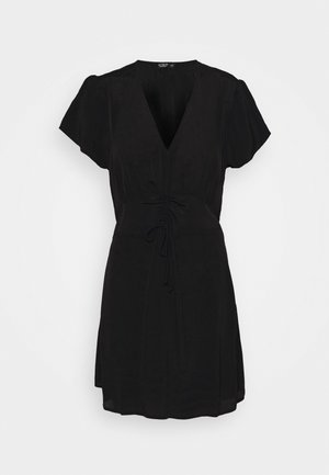 MARISSA GATHERED FRONT MINI DRESS - Robe d'été - black