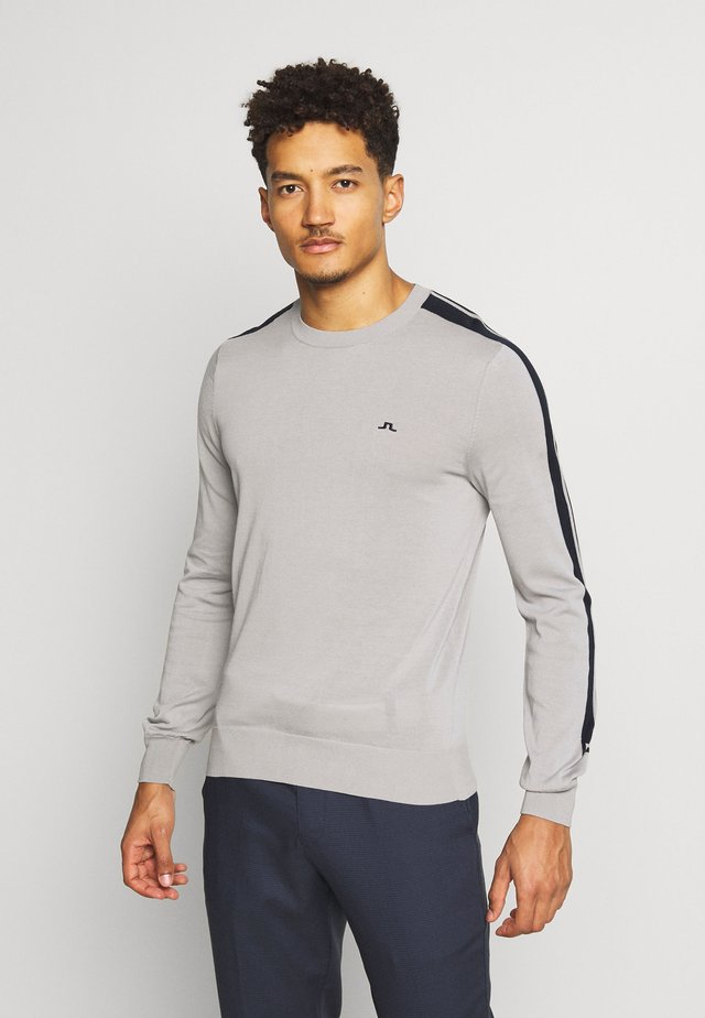 KEVIN CREW NECK-PIMA COTTON - Collegepaita - stone grey