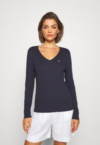 Tommy Jeans - V NECK LONGSLEEVE - T-shirt à manches longues - twilight navy - 0