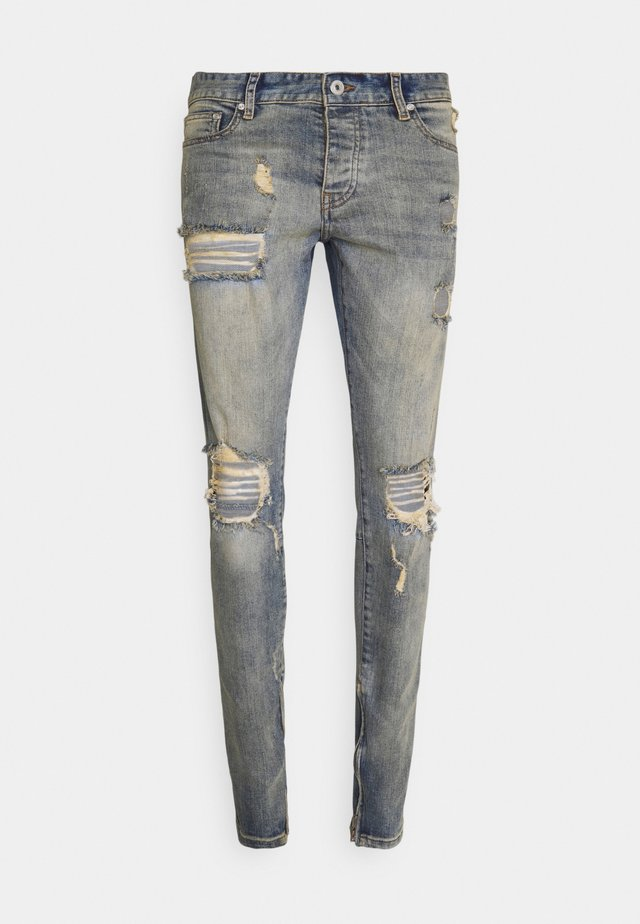MITU DISTRESSED - Slim fit jeans - straw blue