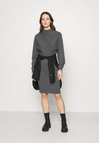 Zign - Shift dress - mottled dark grey - 1
