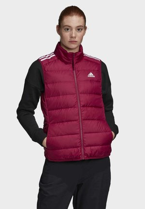 ESSENTIALS DOWN VEST - Waistcoat - burgundy