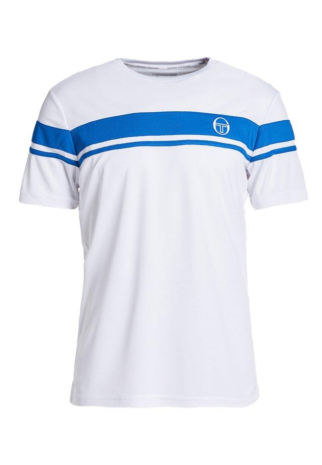 YOUNG LINE PRO T-SHIRT - T-shirt imprimé - white/royal