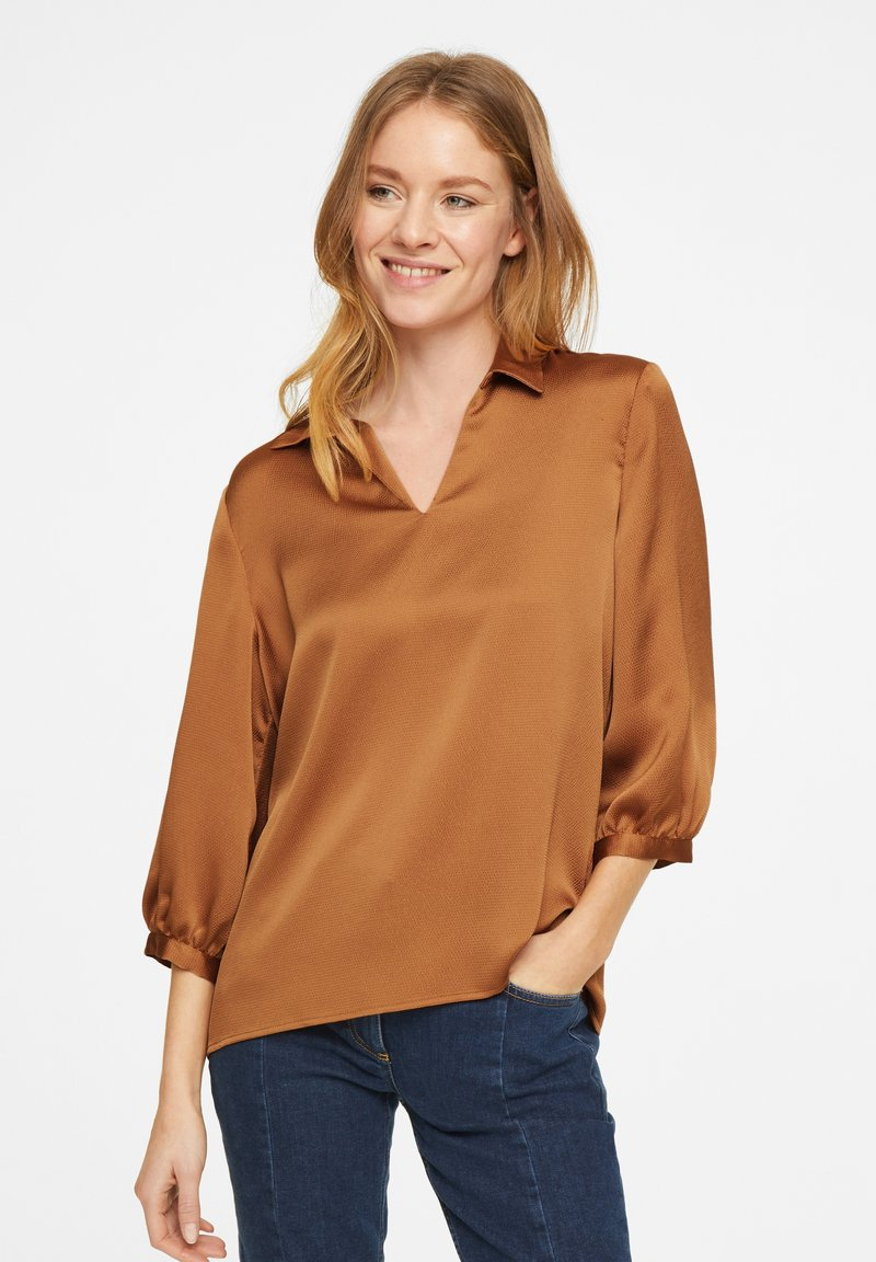 comma - Blouse - tobacco