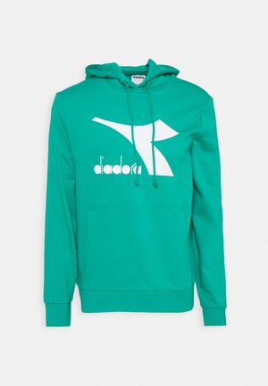 HOODIE BIG LOGO - Sweatshirt - green deep