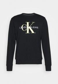 Calvin Klein Jeans - MONOGRAM CREW NECK - Felpa - black - 4