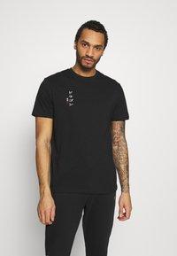 Only & Sons - ONSHARU LIFE  TEE - Print T-shirt - black - 2