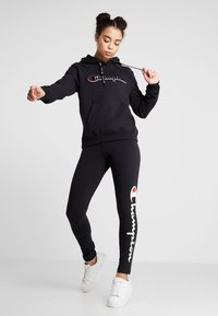 Champion - LEGGINGS - Legginsy - black - 1
