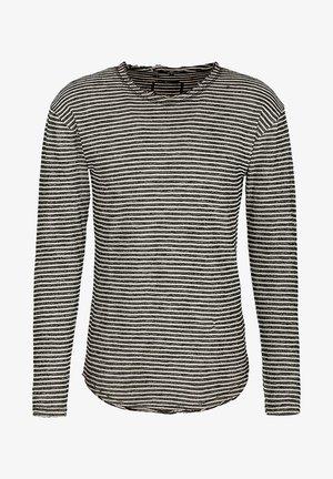 Long sleeved top - black/white/sand