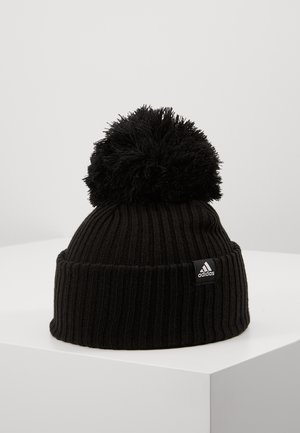 FAT BRIM BEANIE - Muts - black/white/white