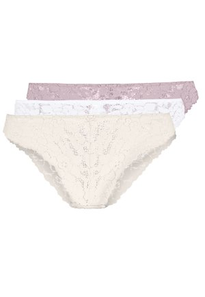 Greer 3 pack brief - Underbukse - nude/white/pink