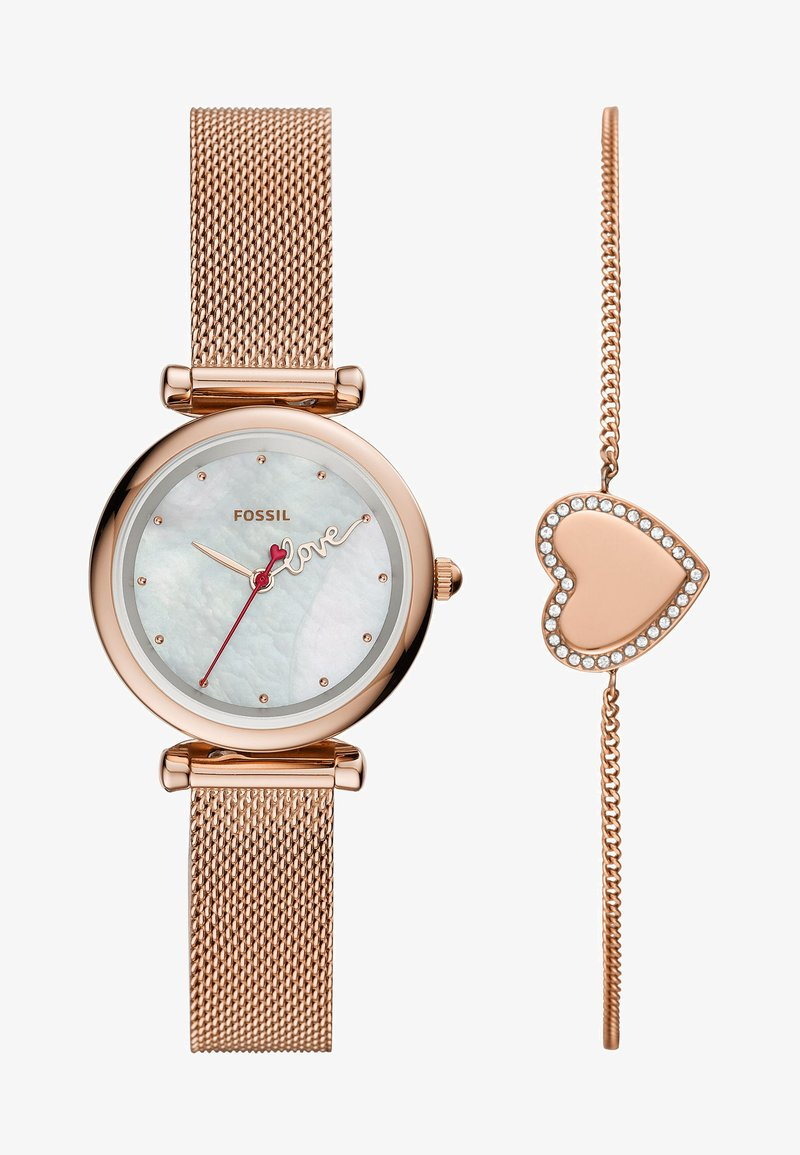 Fossil - CARLIE MINI SET - Watch - rose gold-coloured