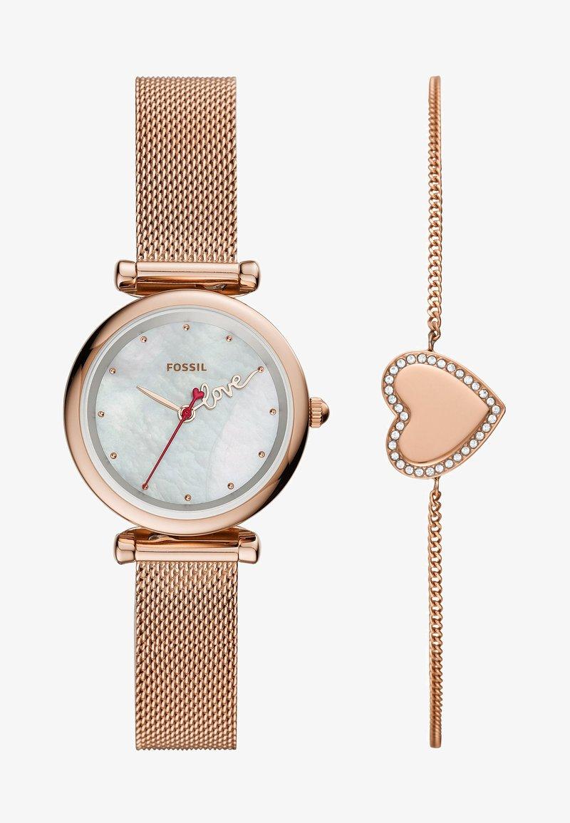 Fossil - CARLIE MINI SET - Horloge - rose gold-coloured