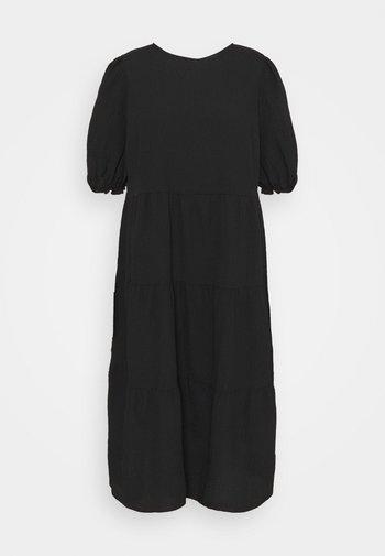 TEXTURE PUFF TIER - Day dress - black