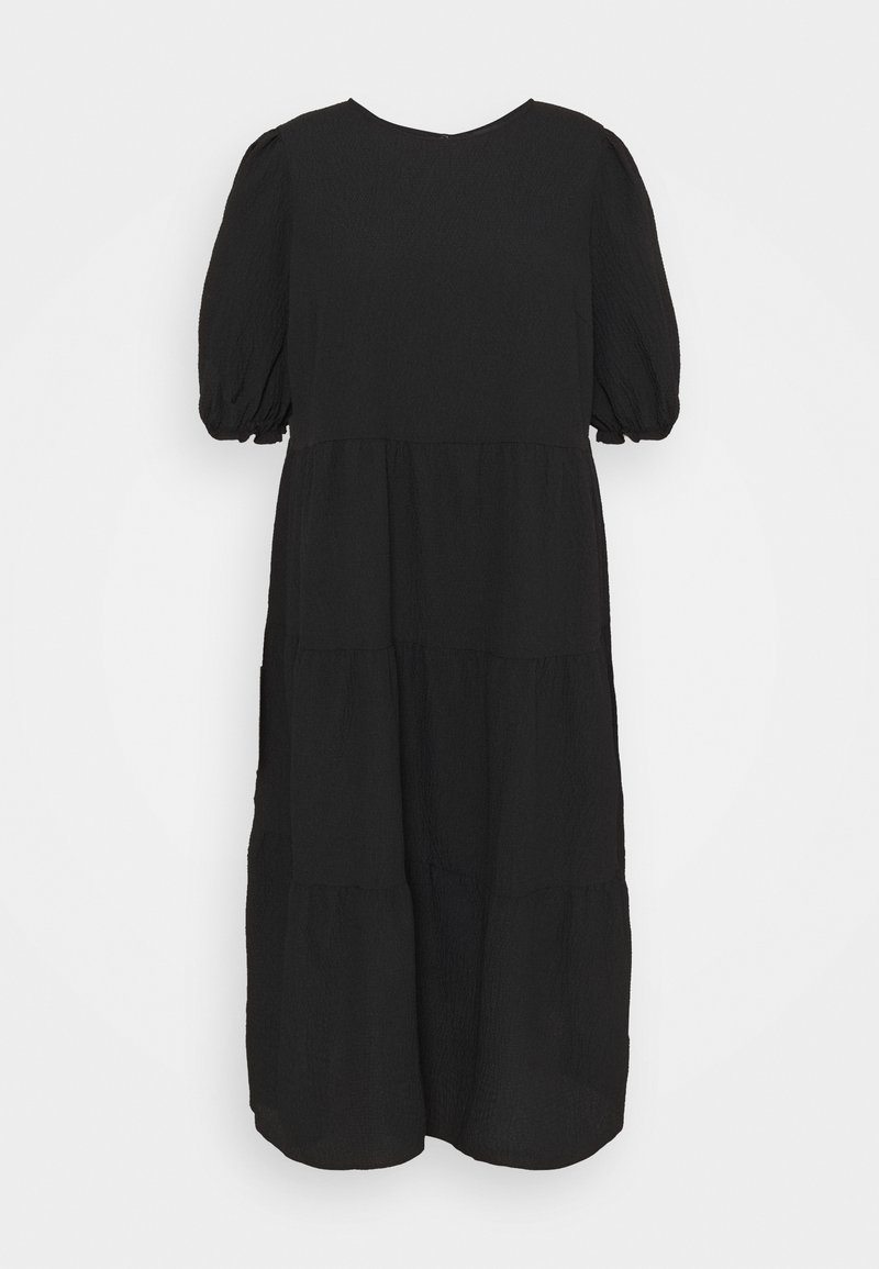 New Look Curves - TEXTURE PUFF TIER - Day dress - black