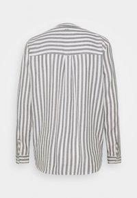 TOM TAILOR DENIM - COZY - Blouse - grey/white - 1