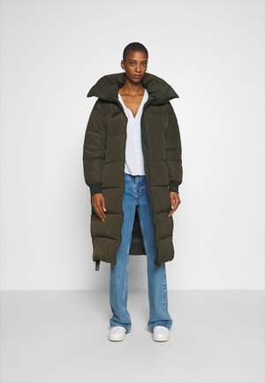Down coat - dark green