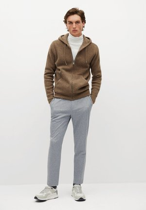 WOOLY - Mikina na zip - medium brown