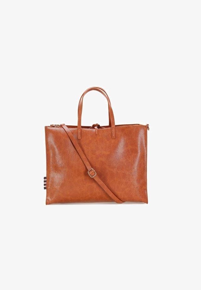 FELICIA  EFFETTO LUCERTOLA  - Shopping bag - marrone