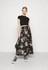 ONLY - ONLZILLE NAYA SKIRT - Maxi skirt - black - 1