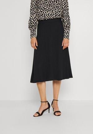 VIVISH MIDI SKIRT - A-line skirt - black