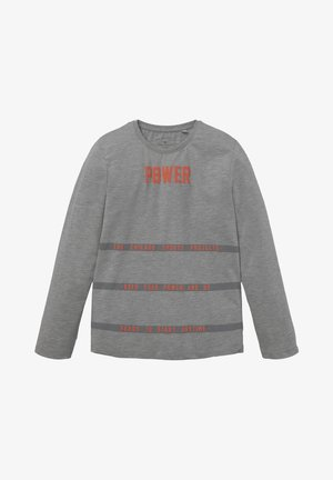 Long sleeved top - drizzle melange/gray