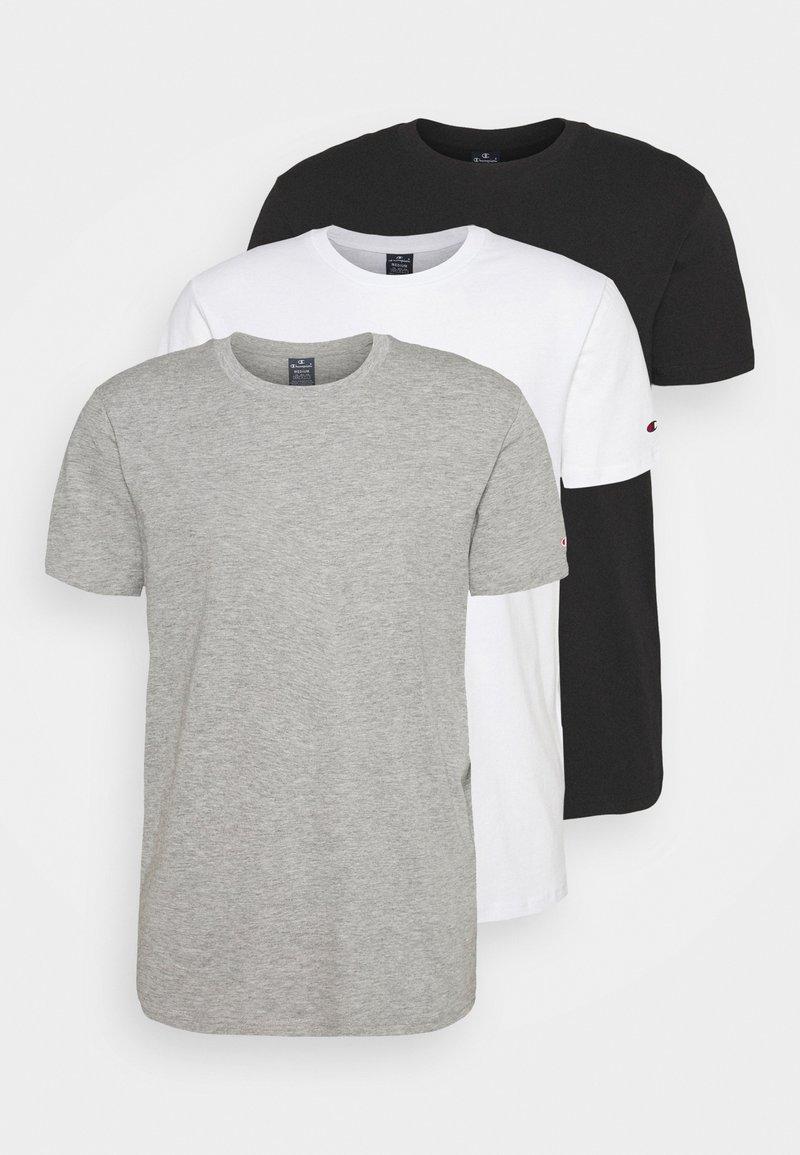 Champion - 3 PACK - T-shirt basique - black/white/grey
