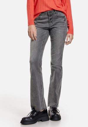 Flared Jeans - grey denim