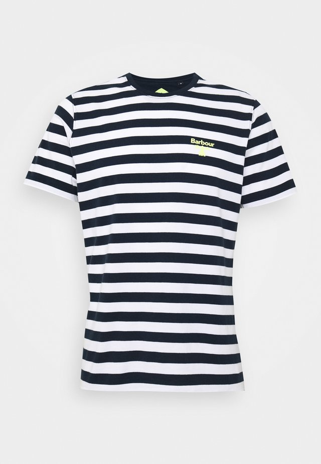 BOW STRIPE TEE - T-shirt z nadrukiem - new navy